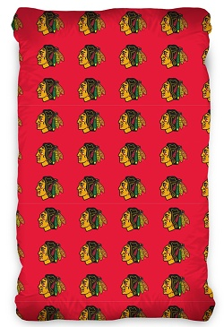 Prostěradlo NHL Chicago Blackhawks 90x200 cm